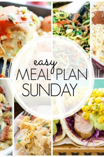 Easy Meal Plan Sunday - Week 56