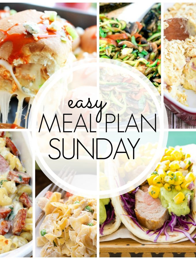 Easy Meal Plan Sunday - Week 56