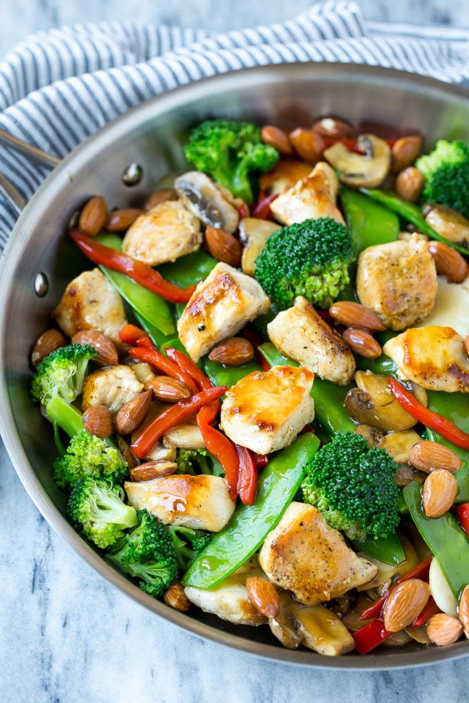Chicken almond ding dinner at the zoo this recipe for chicken almond ding is a stir fry full of chicken veggies and forumfinder Gallery