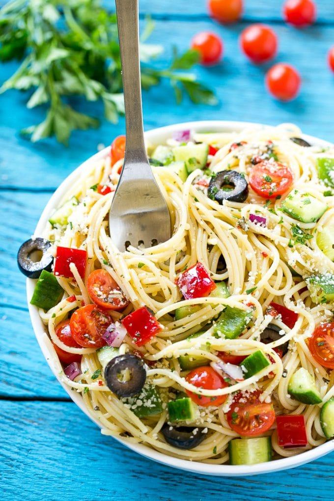 Spaghetti Salad Dinner At The Zoo