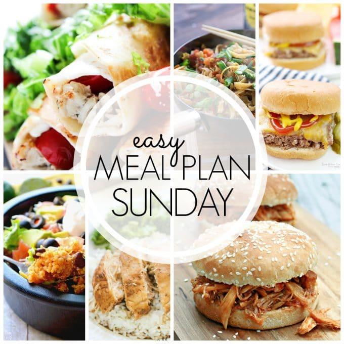 Easy Meal Plan Sunday - Week 60