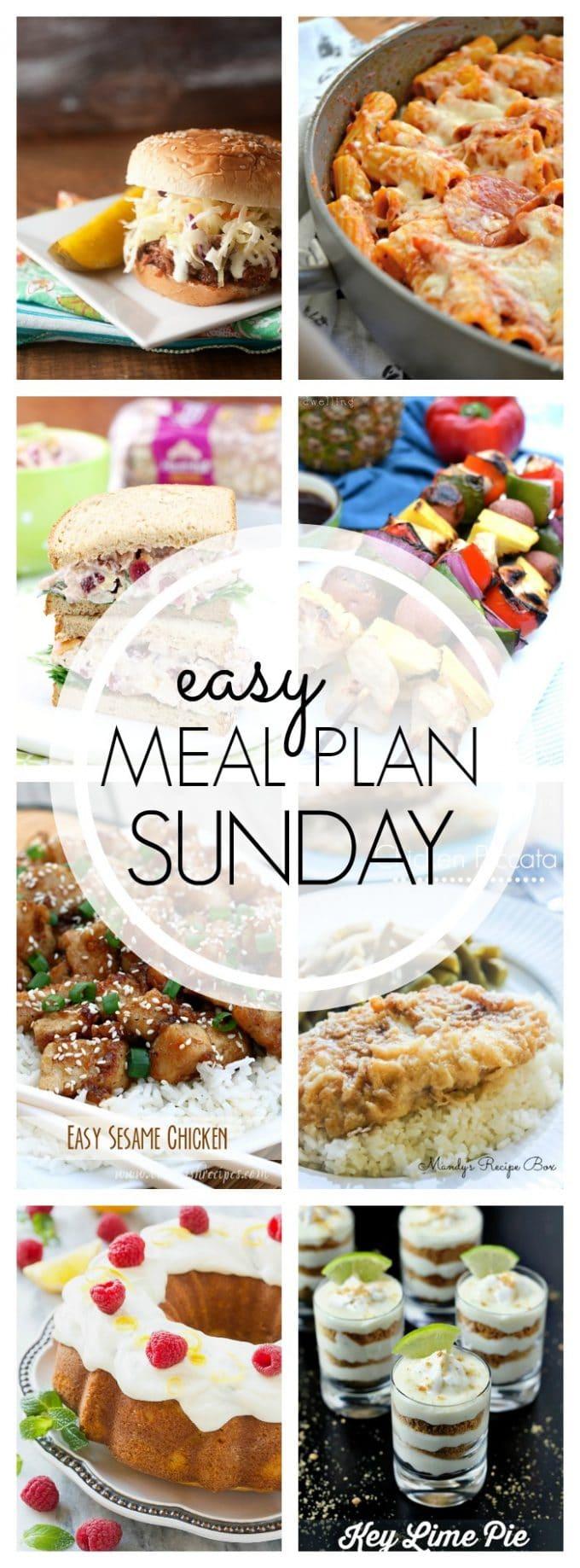 Easy Meal Plan Sunday - Week 59