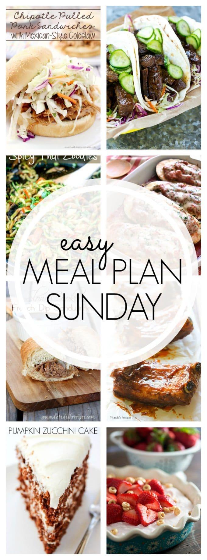 Easy Meal Plan Sunday - Week 62