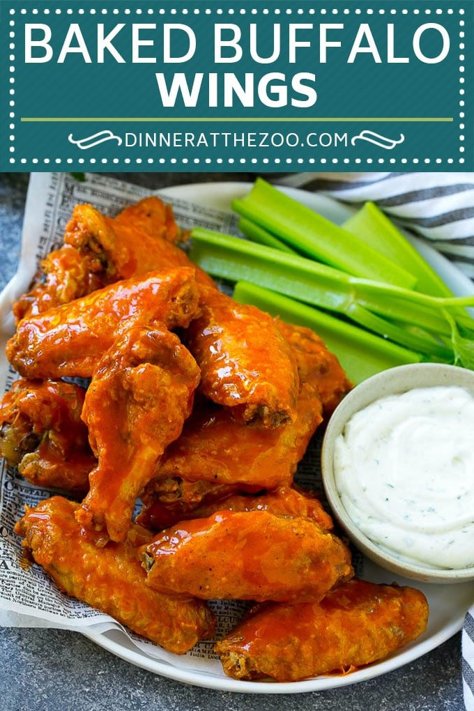 Baked Buffalo Wings Recipe | Buffalo Chicken Wings | Crispy Baked Chicken Wings #chicken #chickenwings #buffalochicken #appetizer #dinneratthezoo