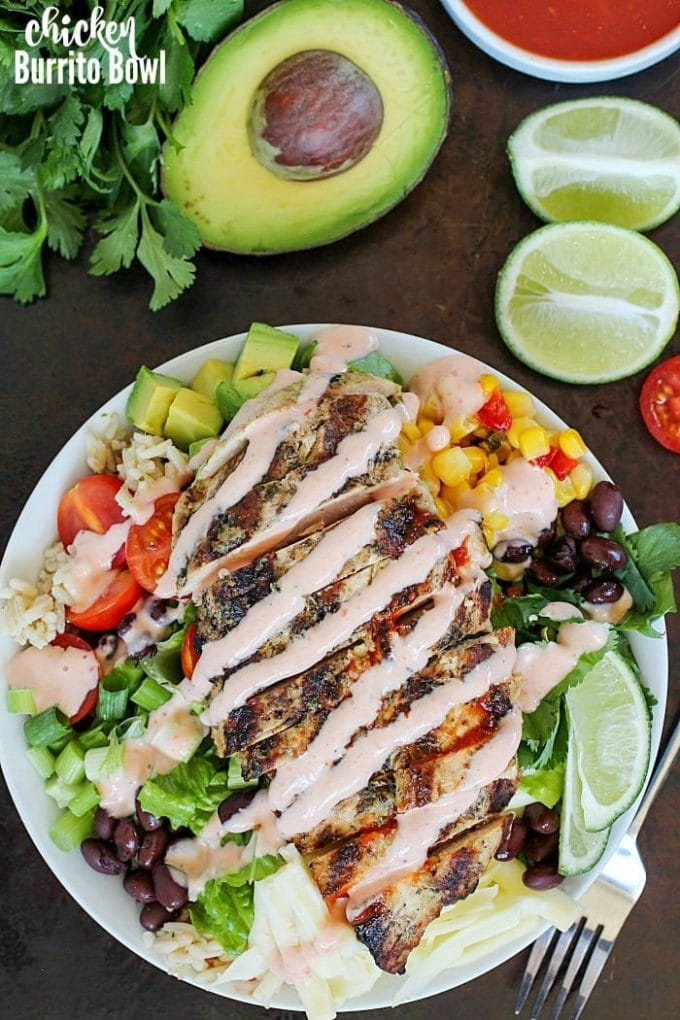 Grilled Chicken Burrito Bowl {Yummy Healthy Easy}