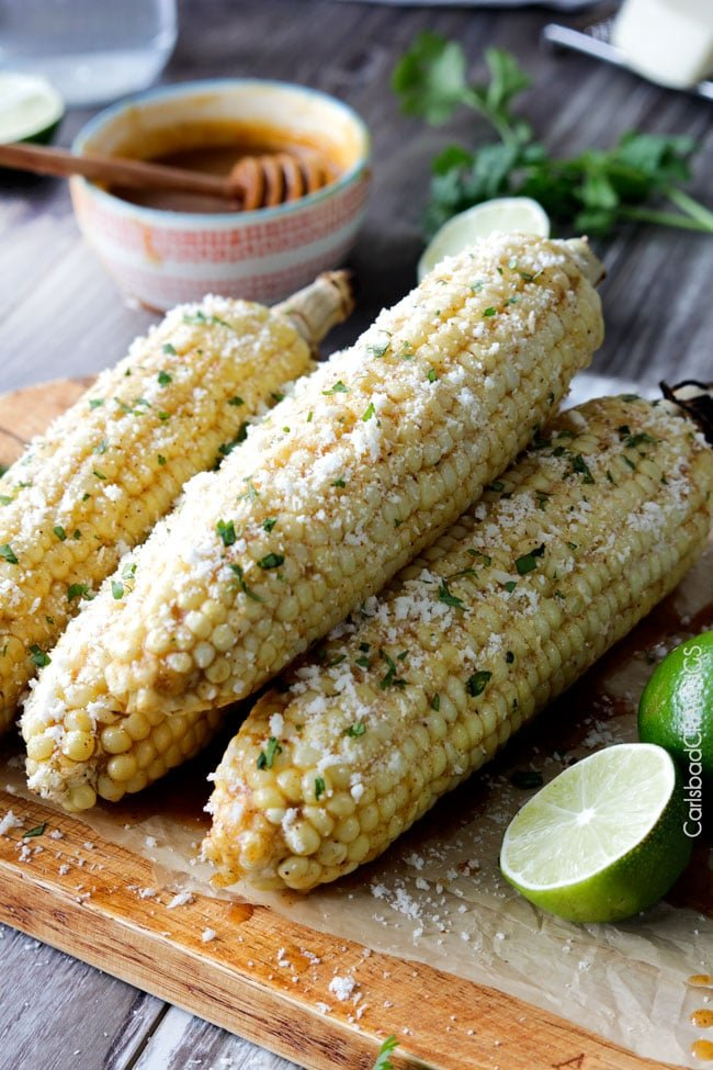 Chipotle lime corn on the cob.