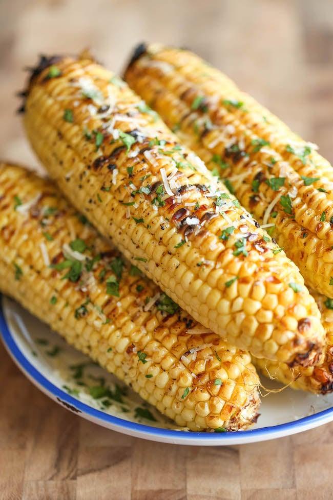 Parmesan corn on the cob.