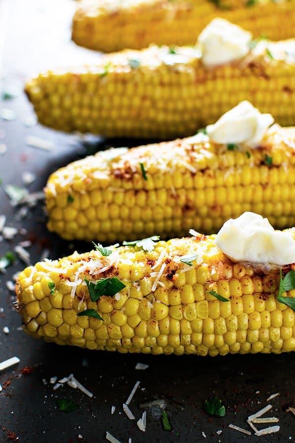 Smoky parmesan corn.