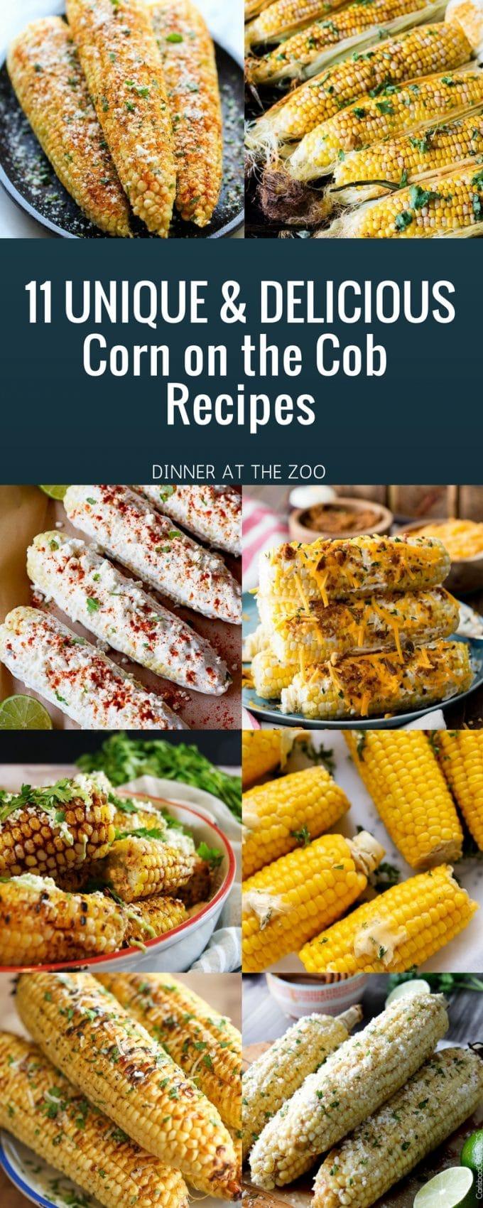 11 Delicious & Unique Corn on the Cob Recipes #corn #grilling #sidedish #summer #dinneratthezoo