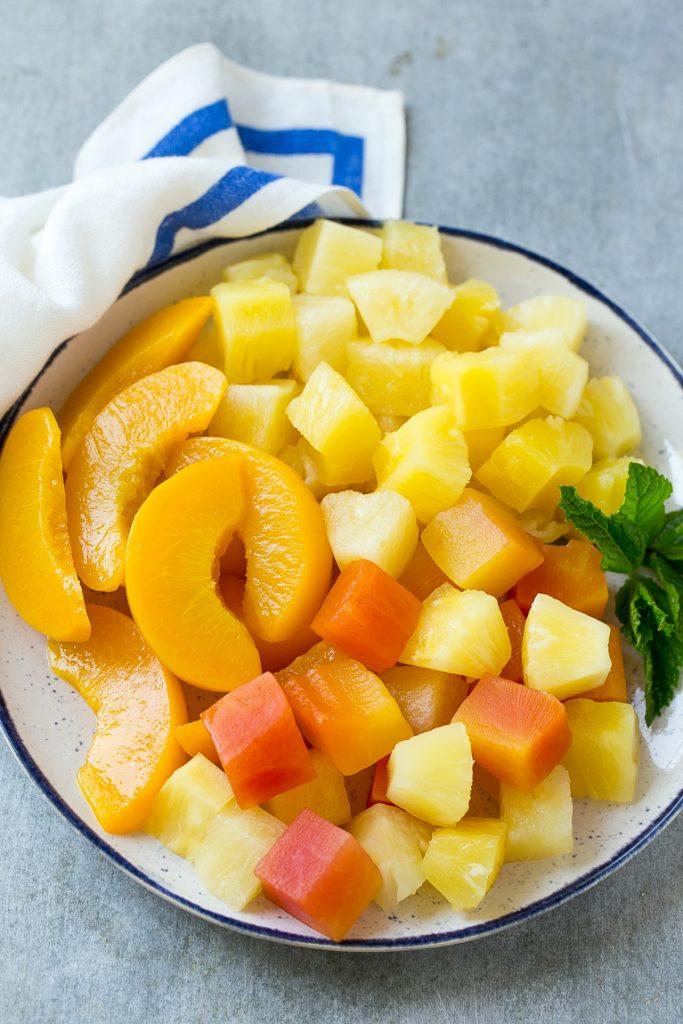 tropical fruit cream cheese fruit dip
