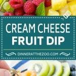 Cream Cheese Fruit Dip | Fruit Recipe | Fruit Dip #fruit #dip #creamcheese #snack #dessert #dinneratthezoo
