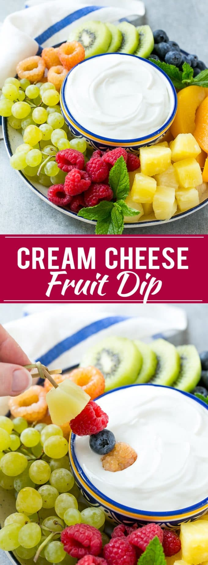 homemade fruit snacks fruit dip cream cheese