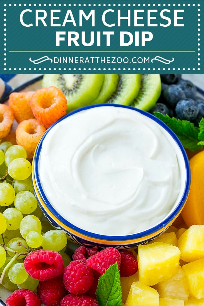 Cream Cheese Fruit Dip | Fruit Recipe | Fruit Dip #fruit #dip #creamcheese #snack #dessert #dinneratthezoo