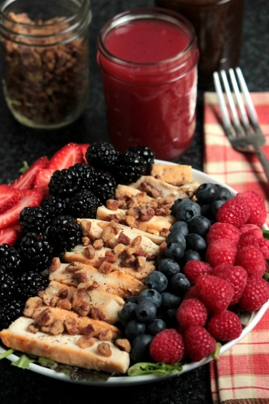 Grilled Chicken Berry Salad {Big Bears Wife}
