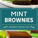 Mint Brownies Recipe | Layered Brownies | Frosted Brownies #brownies #chocolate #frosting #mint #dessert #dinneratthezoo