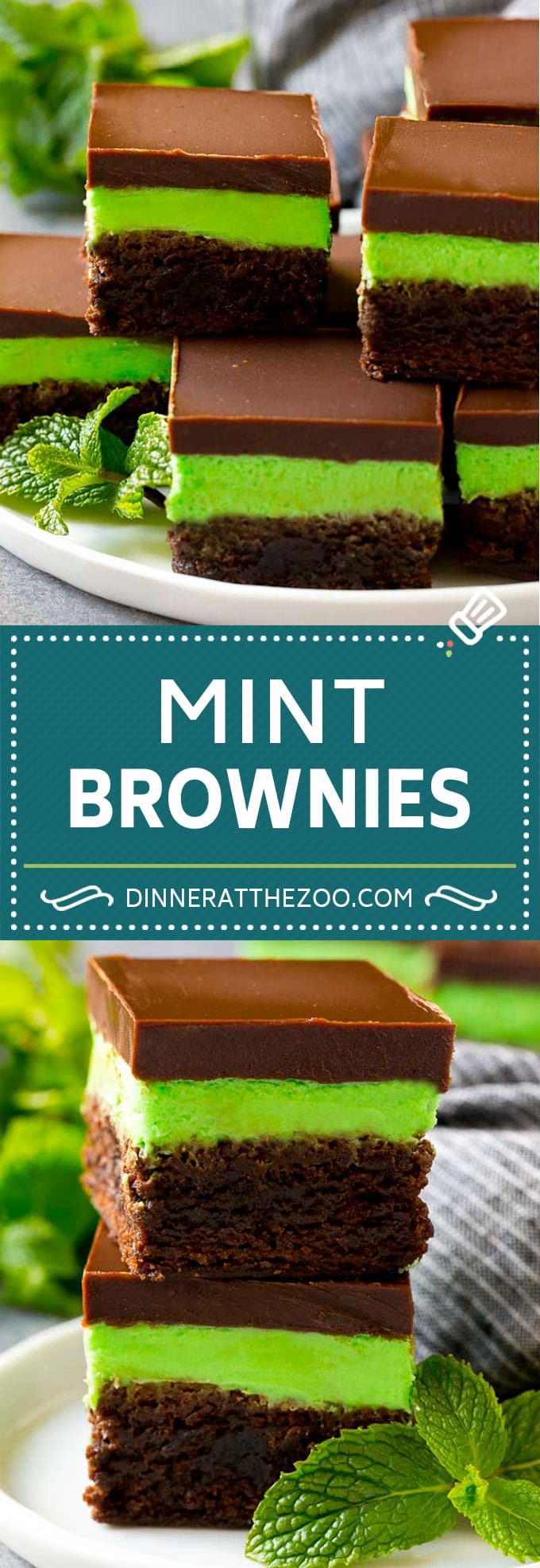 Mint Brownies Recipe   Layered Brownies   Frosted Brownies #brownies #chocolate #frosting #mint #dessert #dinneratthezoo
