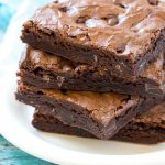 These Thin Mints® brownies are fudgy, packed with chocolate and taste like the famous Girl Scouts® cookie. Best of all, they're super simple to make with just a few ingredients! #ad