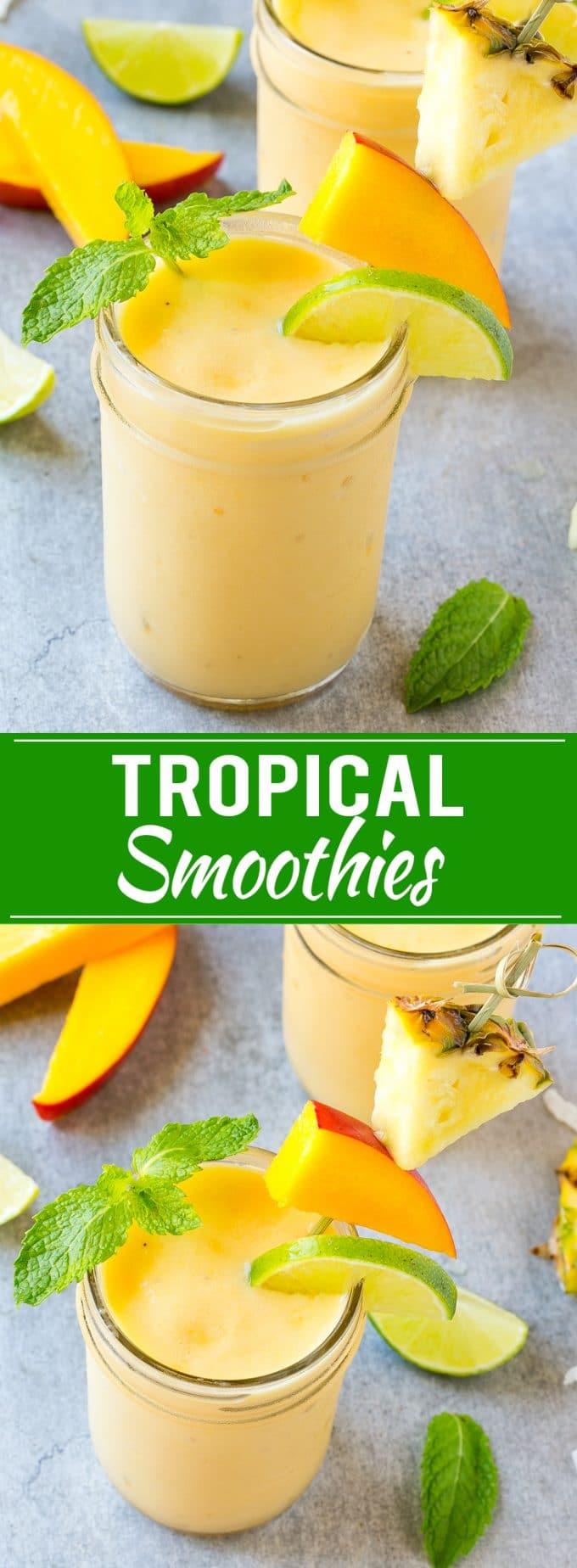 Tropical Smoothie Recipe | Healthy Smoothie Recipe | Easy Smoothie Recipe