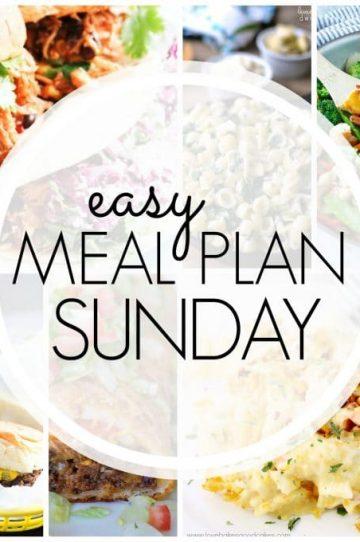 Easy Meal Plan Sunday Week 65