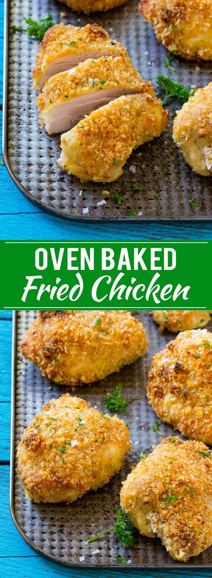 Baked Fried Chicken Recipe | Oven Fried Chicken | Baked Chicken | Crispy Oven Fried Chicken | Healthy Chicken Recipes | Chicken Recipes