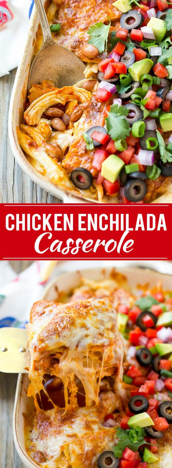 Chicken Enchilada Casserole Recipe | Chicken Enchiladas | Easy Casserole Recipe | Enchilada Casserole