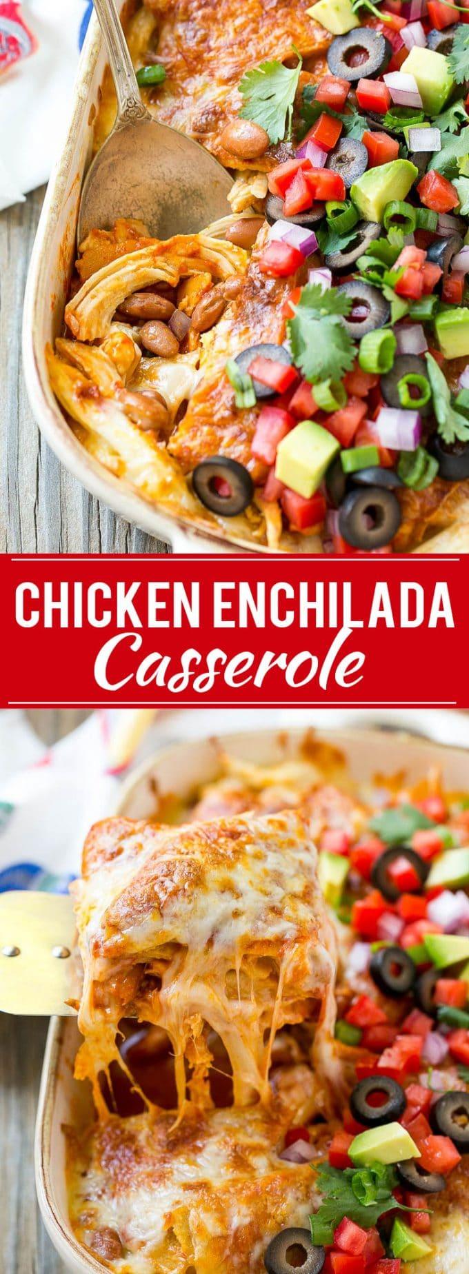Chicken Enchilada Casserole Recipe   Chicken Enchiladas   Easy Casserole Recipe   Enchilada Casserole