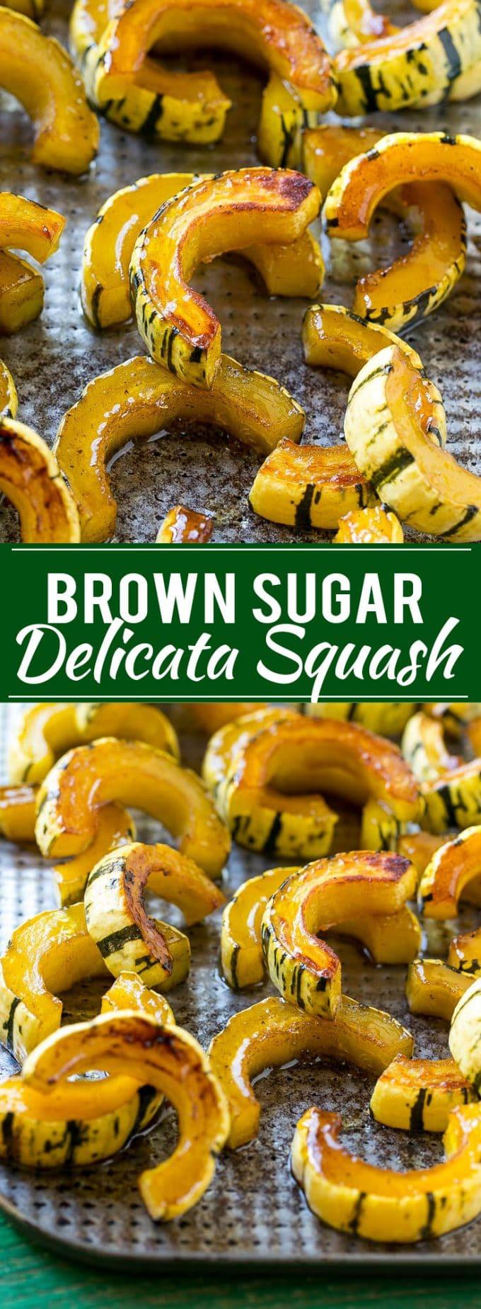 Brown Sugar Delicata Squash Recipe | Roasted Squash | Delicata Squash | Winter Squash Recipe #squash #wintersquash #brownsugar #sidedish #delicatasquash #dinner #dinneratthezoo