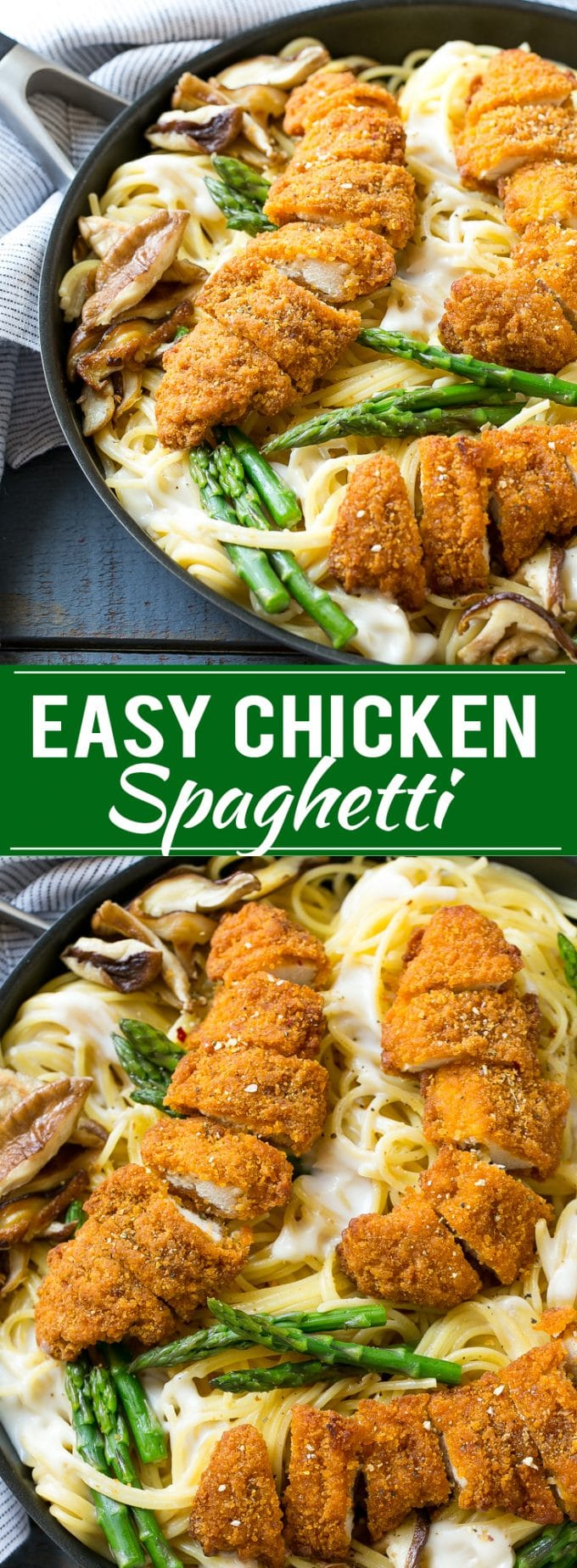 Easy Chicken Spaghetti Recipe | Chicken Pasta | Creamy Chicken Pasta | Spaghetti Recipe