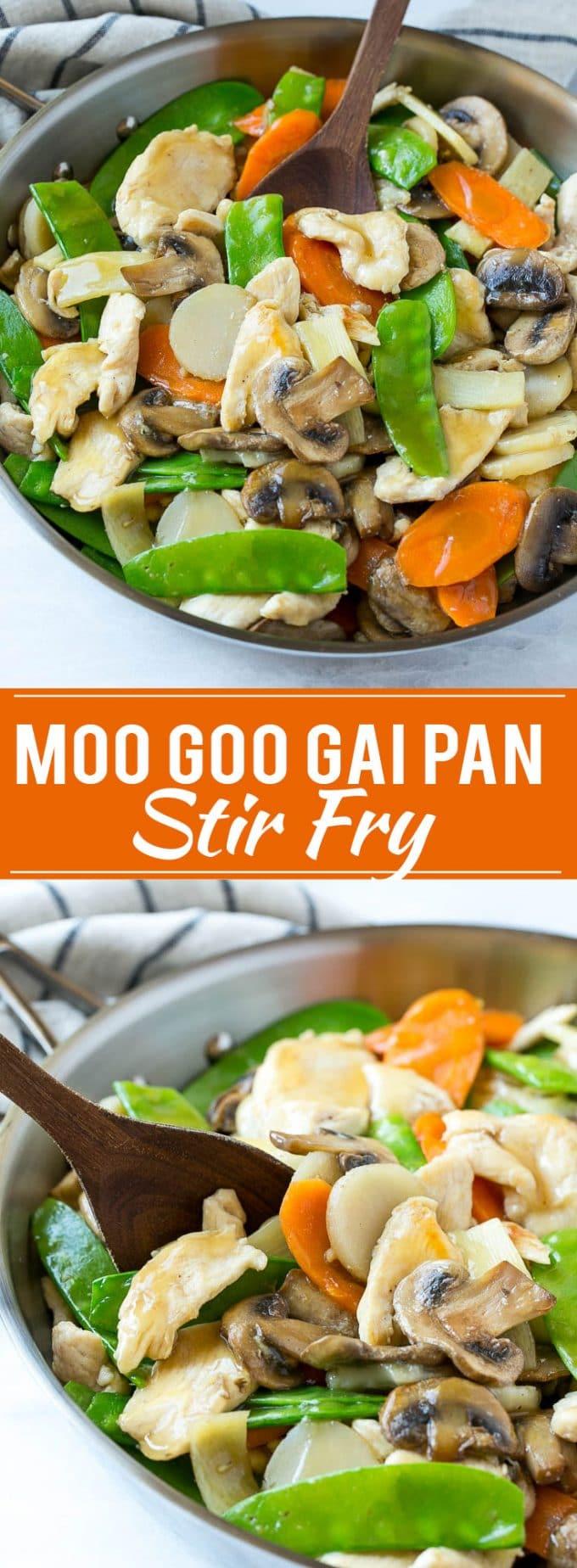 Moo Goo Gai Pan Recipe | Chicken Stir Fry | Chicken and Mushroom Stir Fry | Take Out | Chinese Food | Easy Chicken Recipe