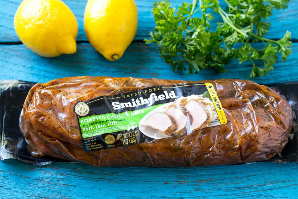 This recipe for pork scallopini is tender marinated pork, seared to a golden brown and topped with a creamy lemon sauce. A quick and easy dinner that's ready in 30 minutes! #ad