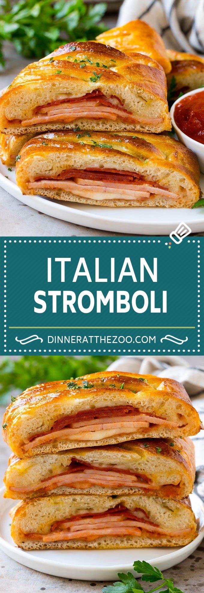 Stromboli Recipe   Italian Stromboli #pepperoni #cheese #ham #dinner #dinneratthezoo