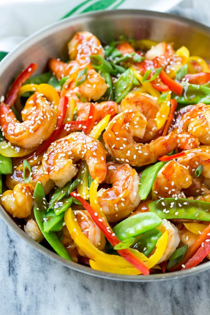 Teriyaki shrimp stir fry dinner at the zoo this recipe for teriyaki shrimp stir fry is shrimp and vegetables coated in a homemade teriyaki forumfinder Image collections