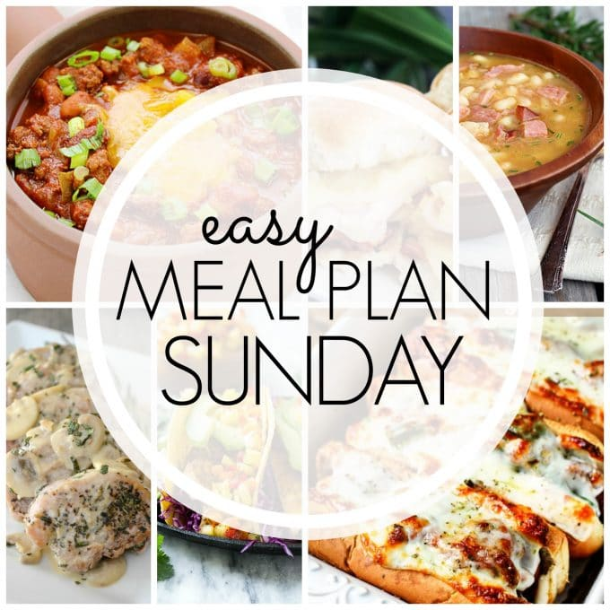 Easy Meal Plan Sunday Week 68