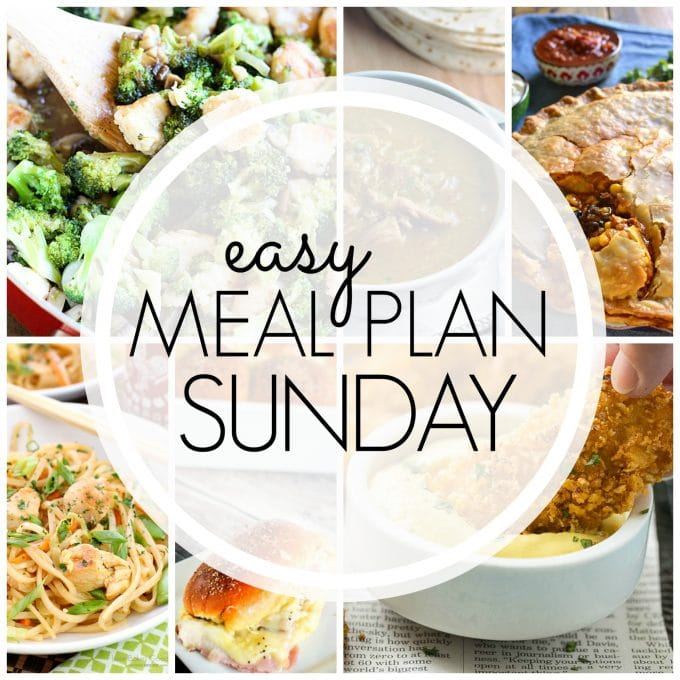 Easy Meal Plan Sunday - Week 71