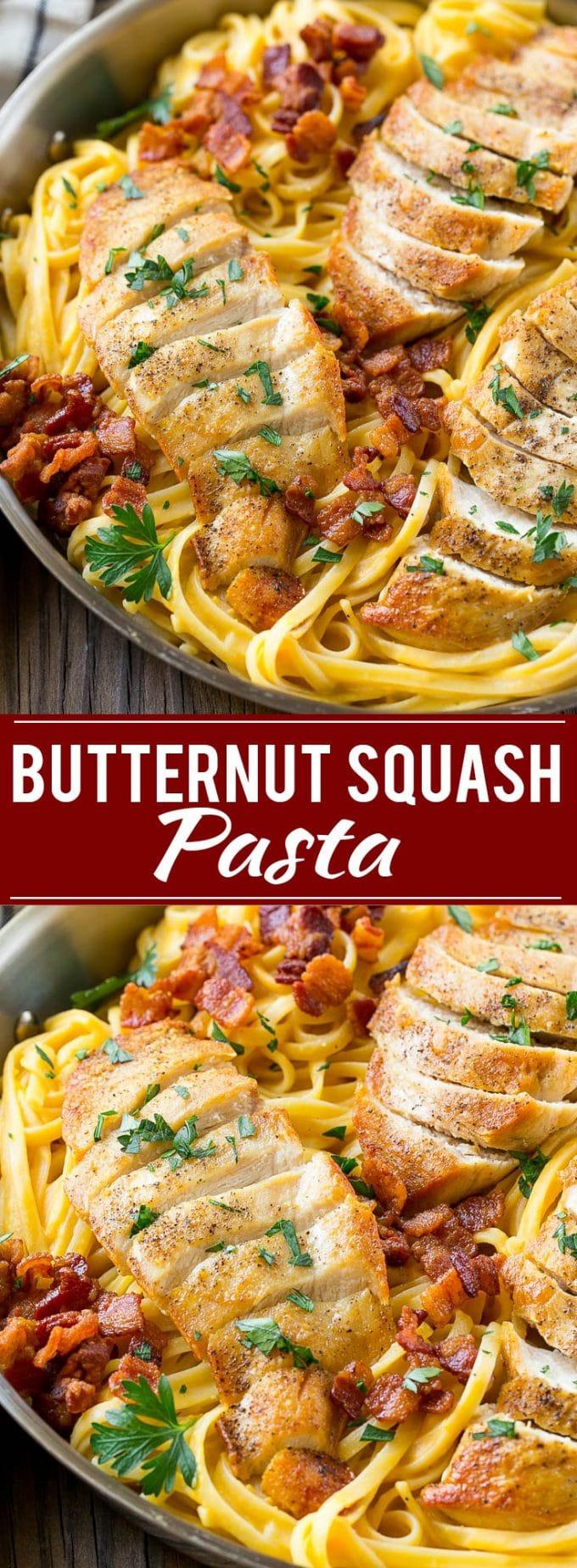 Butternut Squash Pasta with Chicken Recipe | Chicken Pasta Recipe | Butternut Squash Recipe | Easy Dinner Recipe | Pasta Recipe