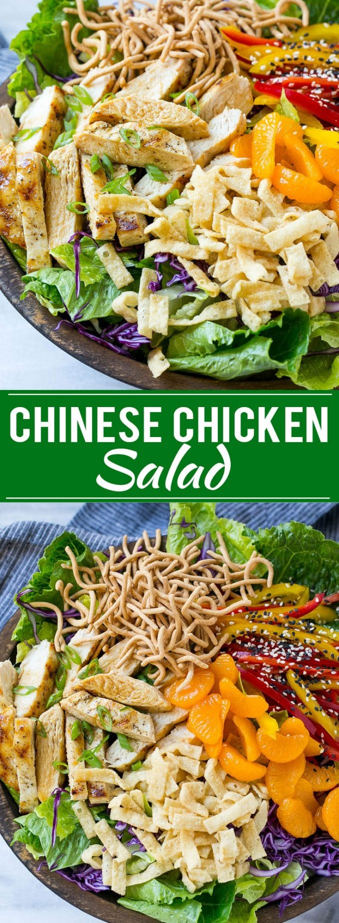 Chinese Chicken Salad Recipe | Asian Chicken Salad | Easy Salad Recipe | Chicken Salad