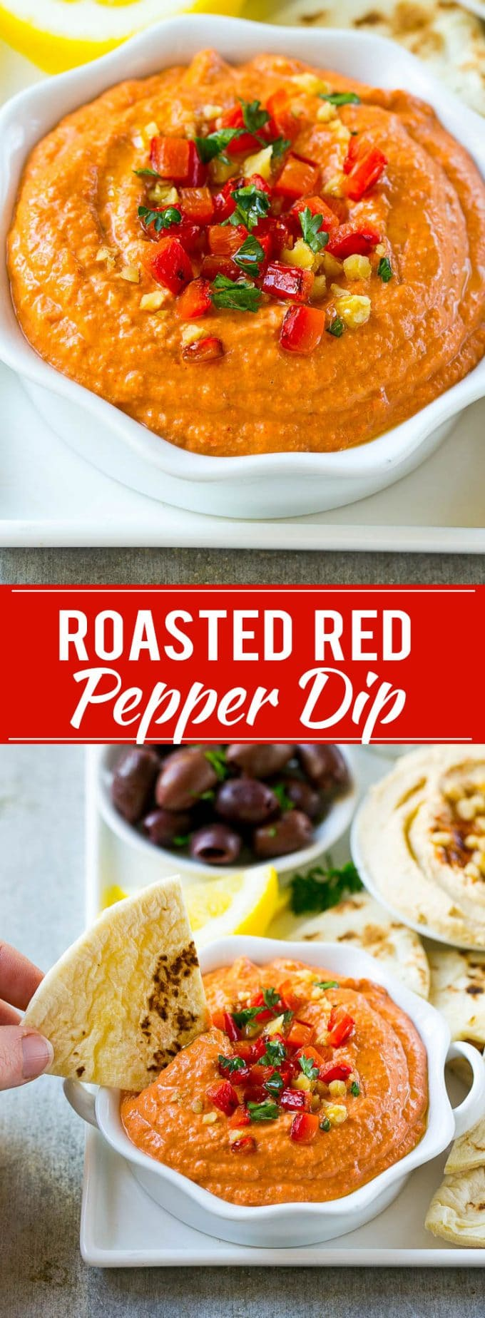 Muhammara Recipe   Roasted Pepper Dip   Roasted Pepper Recipe   Easy Dip Recipe   Appetizer