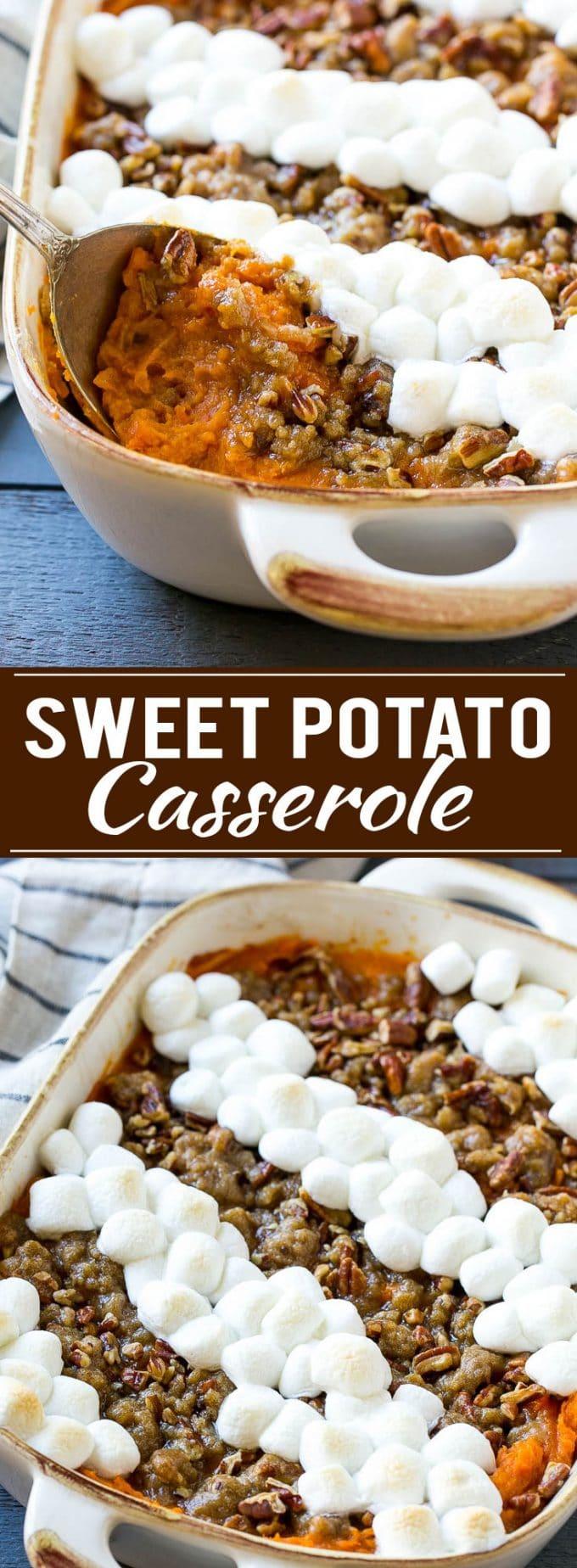 Sweet Potato Casserole with Marshmallows Recipe | Sweet Potato Casserole | Thanksgiving Side Dish #sweetpotatoes #casserole #marshmallow #sidedish #thanksgiving #fall #dinner #dinneratthezoo