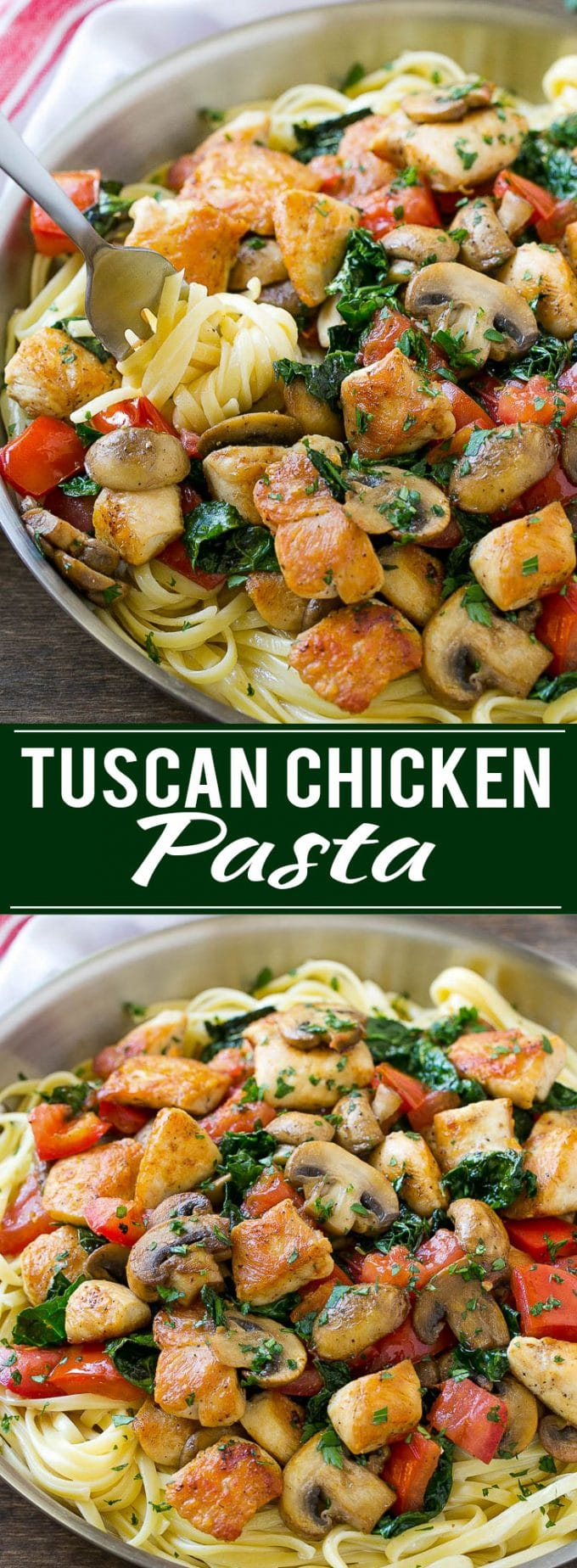 Tuscan Chicken Pasta Recipe | Creamy Chicken Pasta | Pasta Recipe | Easy Dinner Recipe #pasta #dinner #chicken #kale #dinneratthezoo