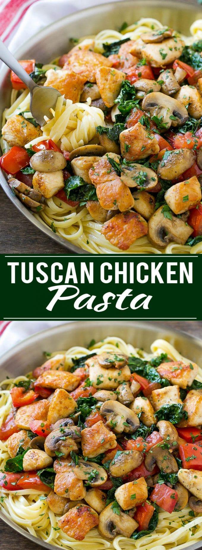 Tuscan Chicken Pasta Recipe | Creamy Chicken Pasta | Pasta Recipe | Easy Dinner Recipe