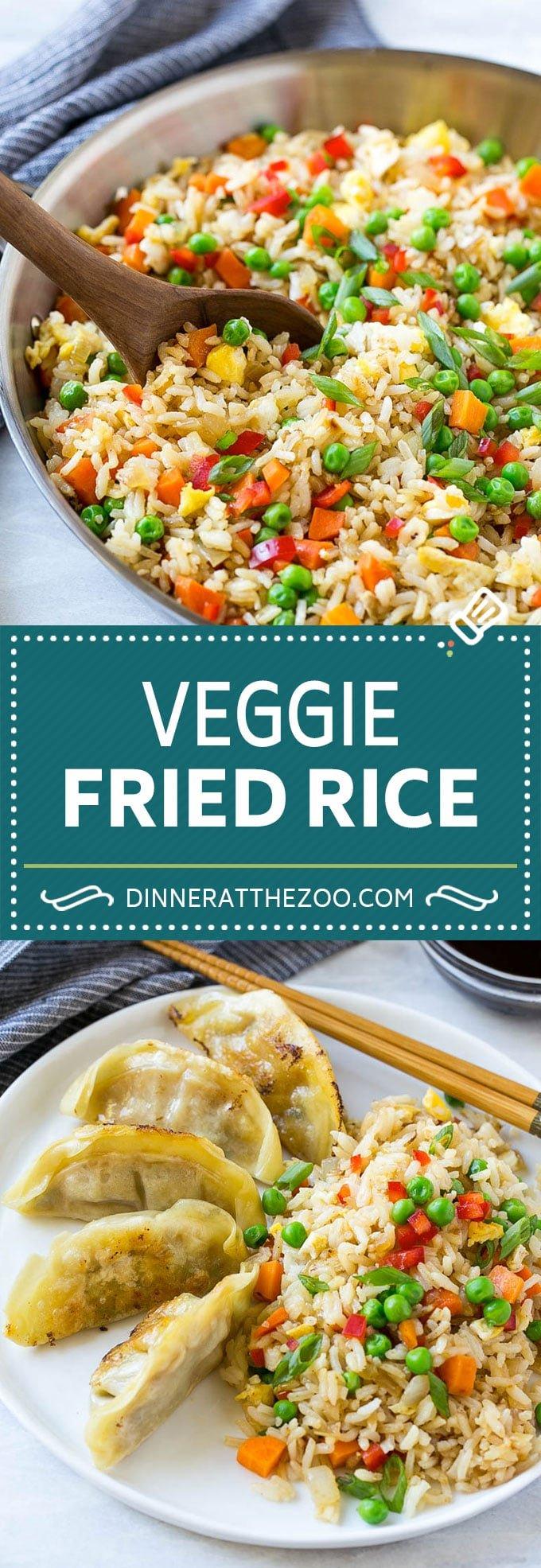 Veggie Fried Rice Recipe | Vegetarian Fried Rice #rice #friedrice #vegetarian #dinner #dinneratthezoo #sidedish