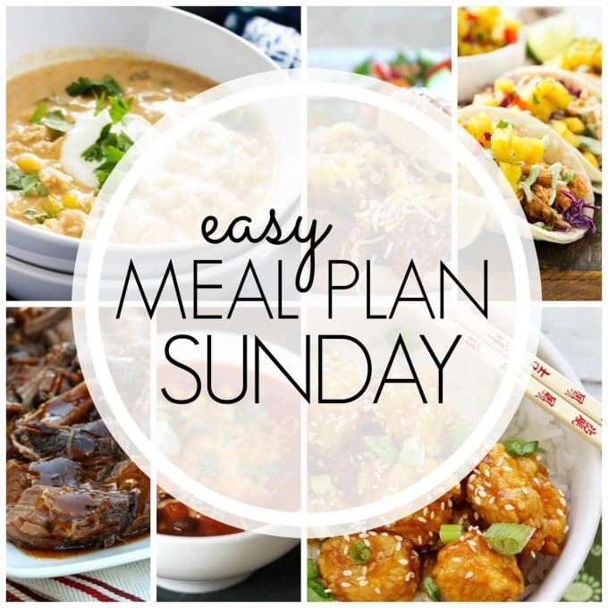 Easy Meal Plan Sunday - Week 70