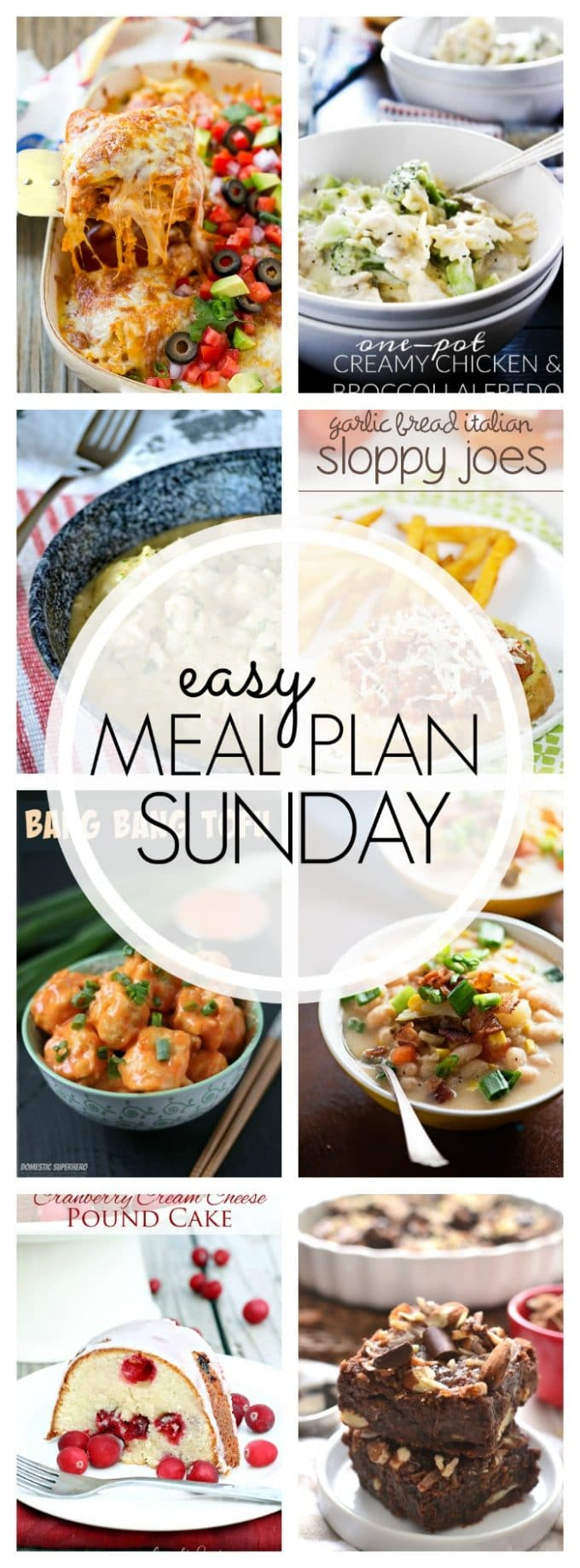 Easy Meal Plan Sunday - Week 75