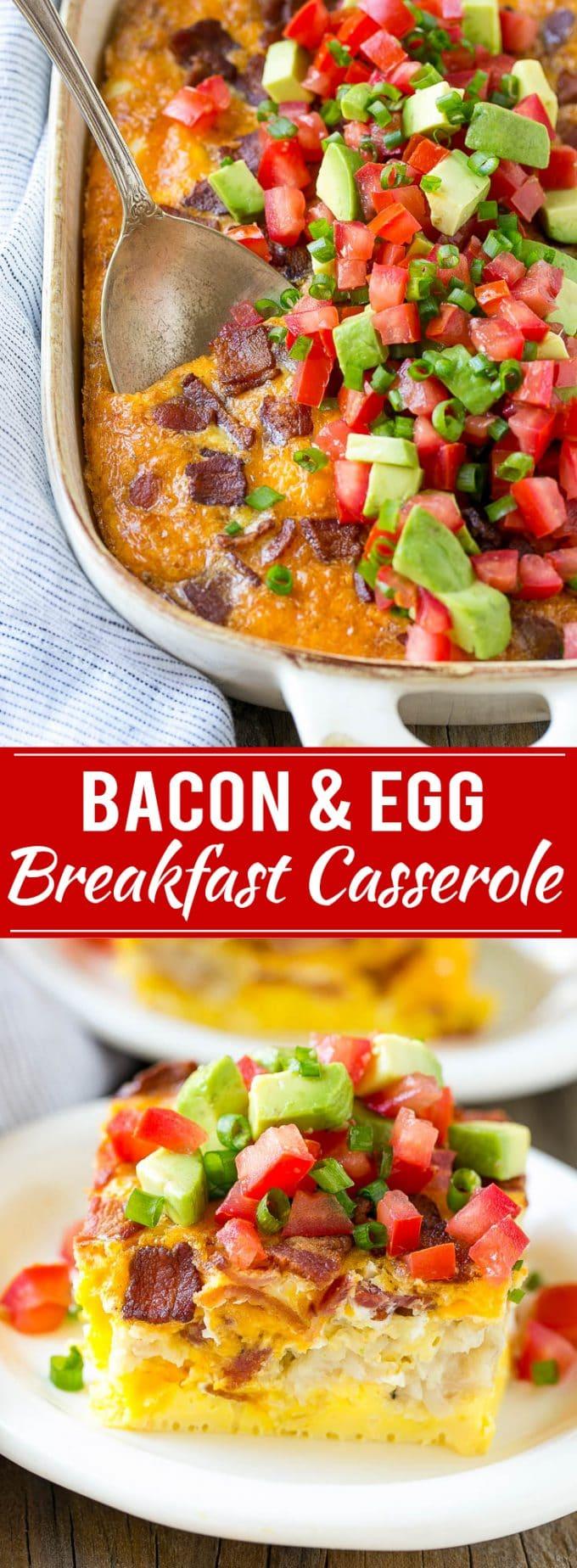 Breakfast Casserole with Bacon Recipe | Breakfast Casserole Recipe | Bacon and Egg Casserole | Egg Casserole | Easy Breakfast Recipe