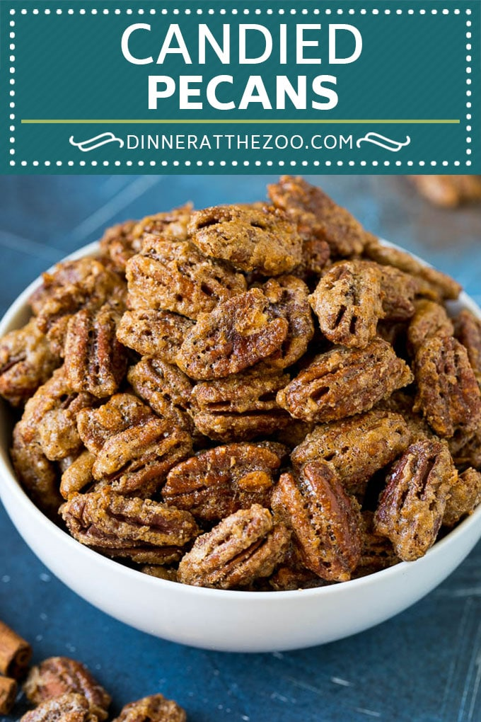 Candied Pecans Recipe | Glazed Pecans | Sugared Pecans #pecans #nuts #snack #dessert #dinneratthezoo