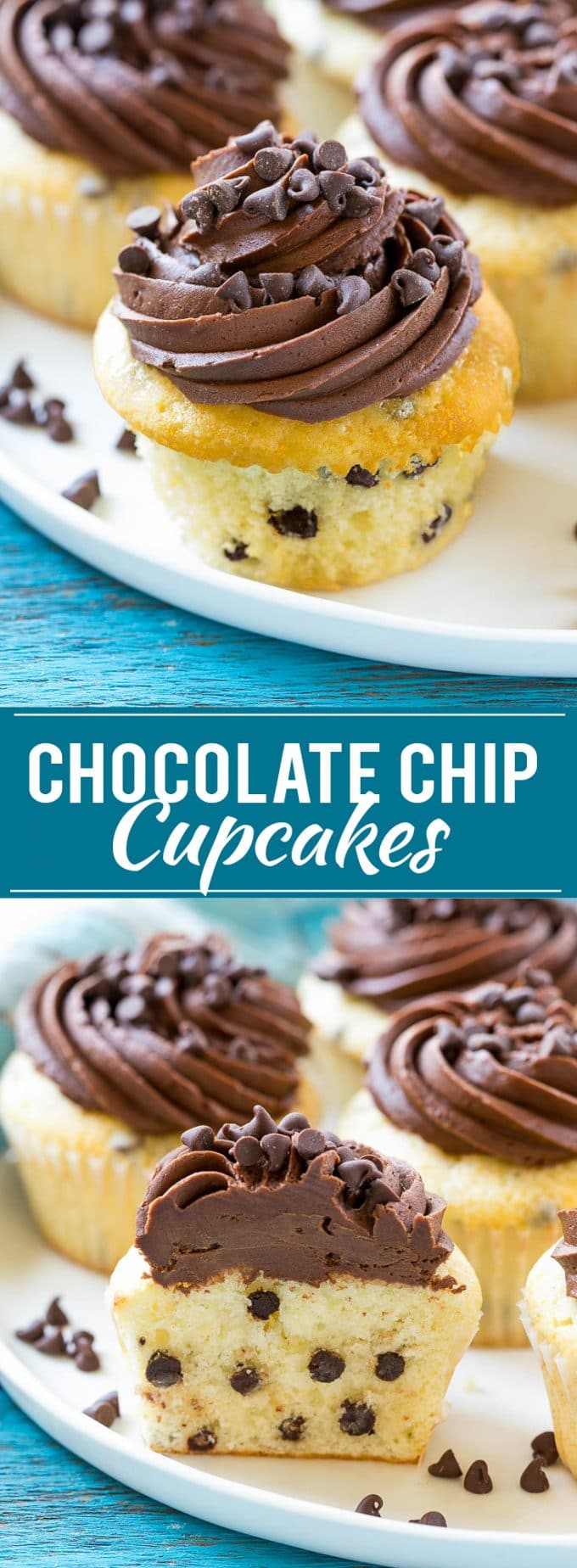 Chocolate Chip Cupcakes Recipe | Cupcake Recipe | Chocolate Chips | Chocolate Frosting | Easy Cupcake Recipe #cupcakes #chocolate #cake #dessert #dinneratthezoo