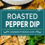 Roasted Red Pepper Dip | Muhammara Dip | Middle Eastern Dip #bellpeppers #walnuts #dip #appetizer #dinneratthezoo