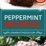 Peppermint Brownies Recipe | Holiday Brownies | Candy Cane Brownies | Mint Brownies
