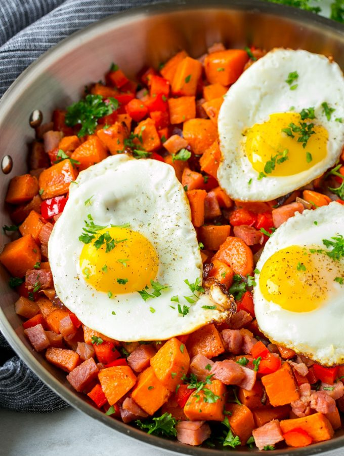 Sweet Potato Hash with Ham