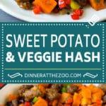 Sweet Potato Hash #sweetpotato #sausage #breakfast #brunch #dinneratthezoo